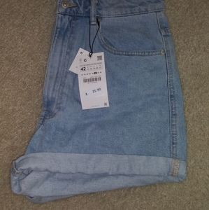 Zara Mom Fit Denim Shorts